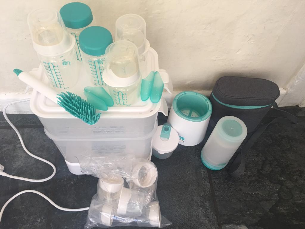 Massive bundle of bottle feeding equipment, some used, some new