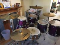 Premier drum kit. Maple series.