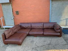 Real leather DWELL corner sofa delivery 🚚 sofa suite couch furniture