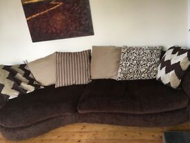 Large sofa, cuddle sofa and footstool in great condition- purchased from DFS