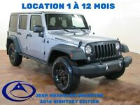2016 Jeep WRANGLER UNLIMITED NIGHT SKY ED. HITCH TOIT FREEDOM LO