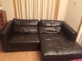 IKEA LEATHER SOFA