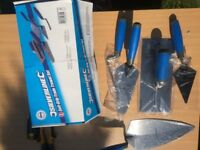 Set of DIY trade trowels and tools - 5 piece Silverline trade set