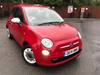 14 plate- fiat 500 colour therapy - 1.2 petrol - 1 keeper from new - warranted low 53K miles-£30 tax