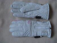 Goretex leather snow-sports gloves