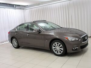 2014 Infiniti Q50 3.7 L AWD LEATHER , SUNROOF AND NAVIGATION!
