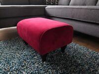 Small Red Velvet SOFA WORKSHOP Ives Footstool BNWT