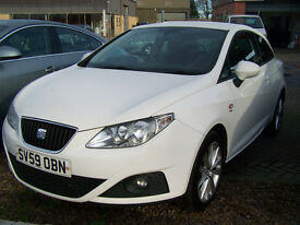SCARCE 59 PLATE SEAT IBIZA CR SPORT 1.6 TDI PERFORMANCE WHITE FSH NEW TIMING BELT AND PUMP 2 KEYS