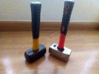 lump hammers x 2 fibreglass 4lb