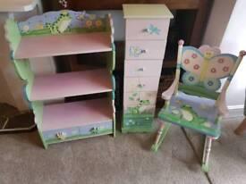 Handpainted 3 piece furniture set