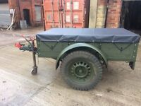 Army Style, Military Style /Builders/ Camping/ Tip Trailer. Fully refurbished.