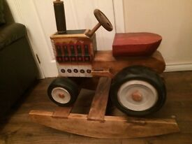 Wooden Rocking Tractor