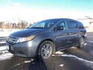 2012 Honda Odyssey EX-L|8 passenger|DVD|Satellite Radio|Sunroof|