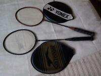 2 Badminton raquets