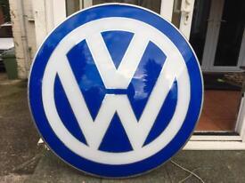 Original VW back lit sign