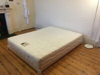 Incredible King size mattress and low modern minimal style frame