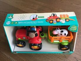 Toddler Lights and sound farm tractor - brand new