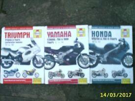 Haynes manuals for TRIUMPH / YAMAHA / HONDA