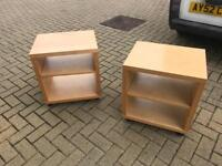A pair of Ikea bedside tables