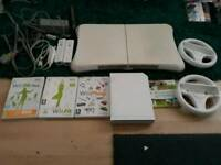 Nintendo Wii and Wii fit board bundle