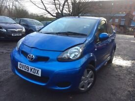 2009 - toyota aygo - blue VVt-i - mot end of june - £20/year tax - warranted low miles - 5 Door