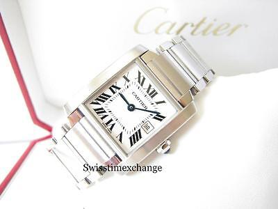 CARTIER TANK FRANCAISE MIDSIZE W51011Q3 STAINLESS STEEL CARTIER BOX!!!!