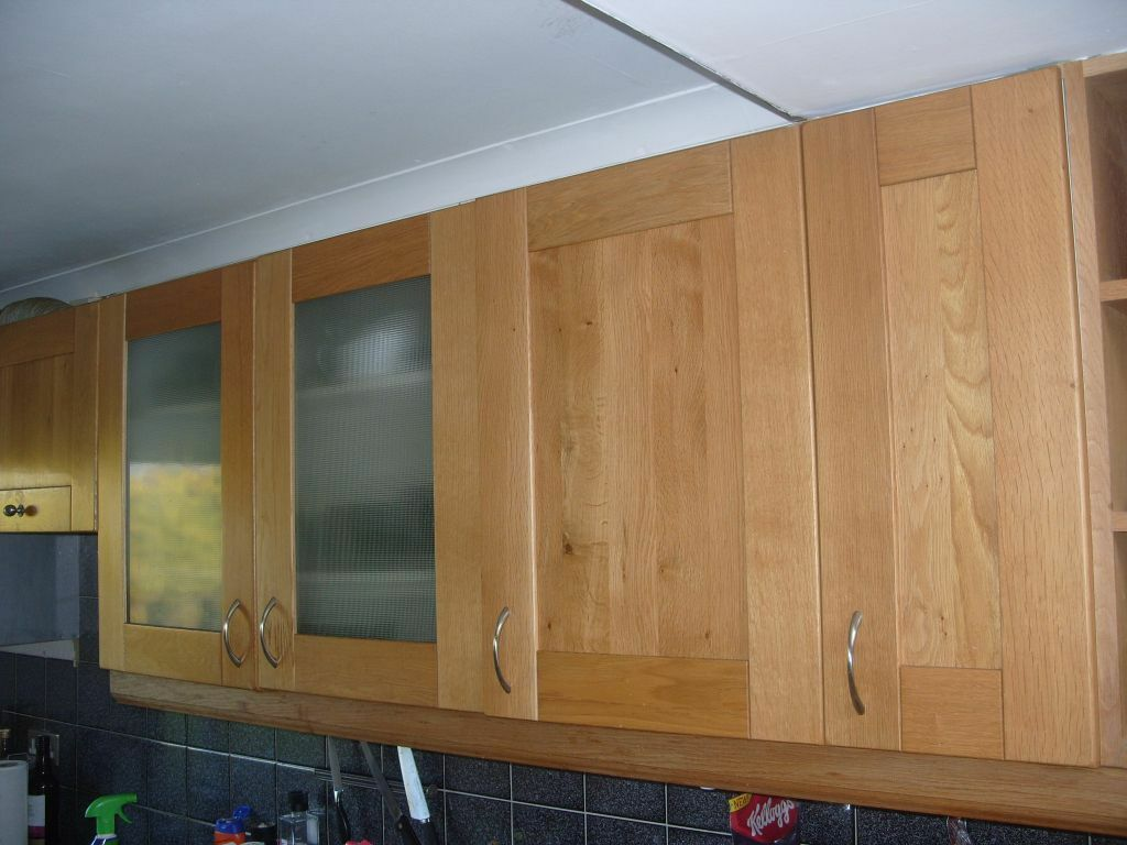 Good quality b q solid oak kitchen doors and drawer fronts cornice pelmet in blackhall for 50cm kitchen cabinets