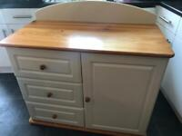 Baby changing unit / cupboard / chest of drawers - shabby chic country style wooden
