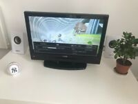 """Luxor 19"""" LCD TV with built-in free-view and DVD player, free indoor aerial"""