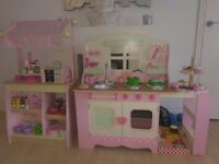 ELC wooden kitchen and cake shop with extras