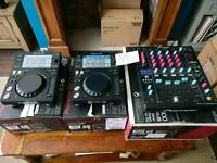 Pioneer XDJ700 DJM900nxs CDJ1000MK3