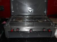 2 burner gas cooker with grill