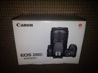 Brand New in box - CANON EOS 200D DSLR Camera + 18-55 mm f/3.5-f/5.6 DC Lens