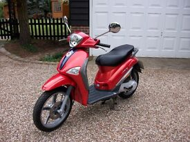 Piaggio Liberty 49cc 2011/12 Runs like a dream. 8750 miles and cruises at 40+mph. Plus spare helmet