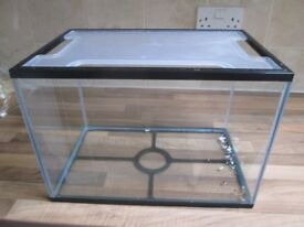 Glass Fish Tank with plastic Lid
