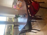 Lovely Victorian extending table and four chairs
