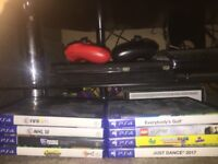 PS4 slim 500gb with 8 games, 2 controllers