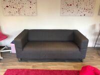 Ikea grey sofa