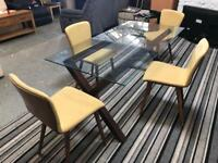Very Nice Glass Table and Chairs Set