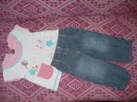 Bundle of 18 clothes for girl 6-9mths/ 6-9 mths. In new and very good condition.