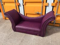 Plum/Purple Chaise Longue - Free Local Delivery