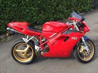 Ducati 748 classic motorcycle