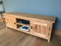 TV cabinet in Solid Teak - 120 x 30 dp x 40 tall