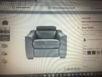 modern furniture land leather Elixir 3 piece suite. used but good condition