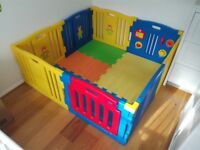 Mcc Plastic Baby Playpen with Activity panel & Floor Mats 8 Sides