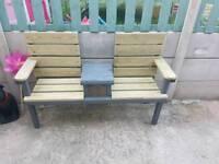 Garden love bench