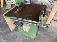 Sedgwick 16 inch table bench saw 3 phase + new blade