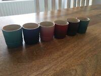 6 Le Creuset Espresso Cups