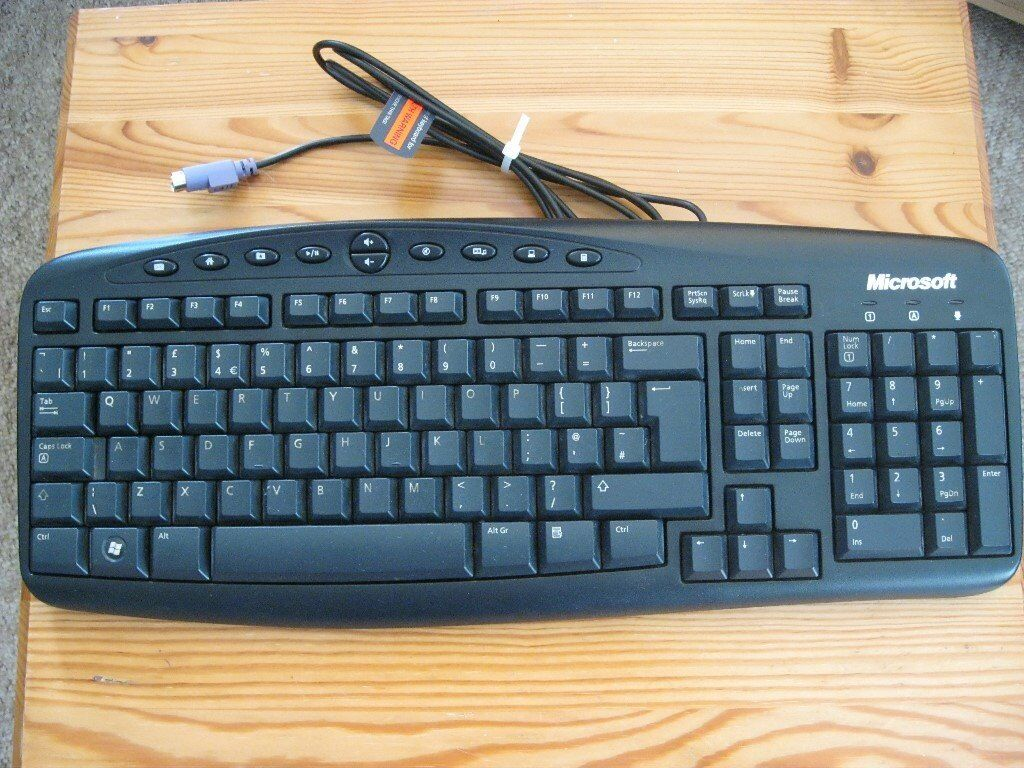 MICROSOFT WIRED KEYBOARD 500 MODEL RT 2300 / With New - Trust ...