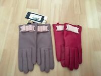 Ted Baker leather gloves size s/m
